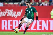 Miguel Layun during the friendly match between Poland and Mexico in Poland on november 13th, 2017.