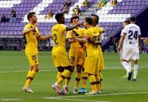 Le groupe du Barça (Riqui Puig, Vidal, Sergi Roberto, Messi)