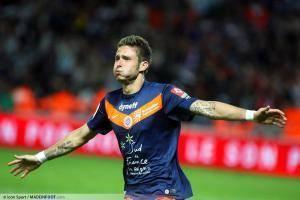 Olivier Giroud, ici sous les couleurs du Montpellier HSC.