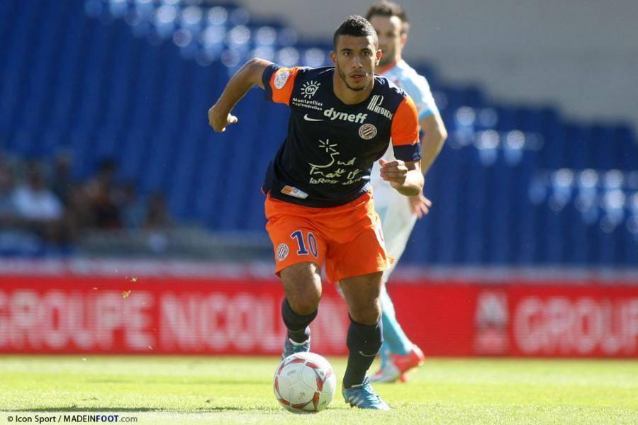 Younès Belhanda, ici sous le maillot du Montpellier HSC.