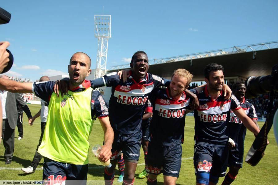 La joie de Touré, Germain et consorts lors de la remontée en Ligue 1 de l'ASM