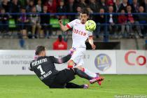 But Bernardo DE CARVALHO / Remy Vercoutre - 10.04.2015 - Caen / Monaco - 32e journee Ligue 1