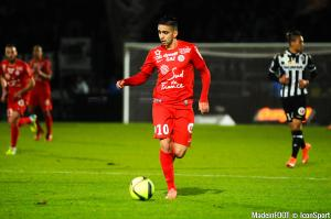Ryad Boudebouz a retrouvé le chemin de l'entraînement ce mardi avec Montpellier