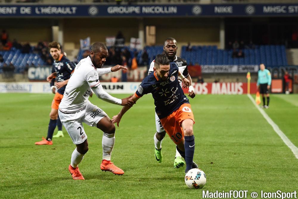 Ryad Boudebouz et le MHSC se sont faits rejoindre en fin de match par Guingamp.
