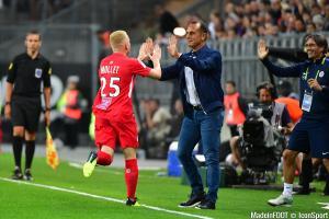 Le groupe du Montpellier HSC pour le match face à l'Amiens SC.