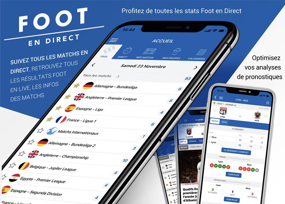 Venez tester la nouvelle application Foot en DIRECT