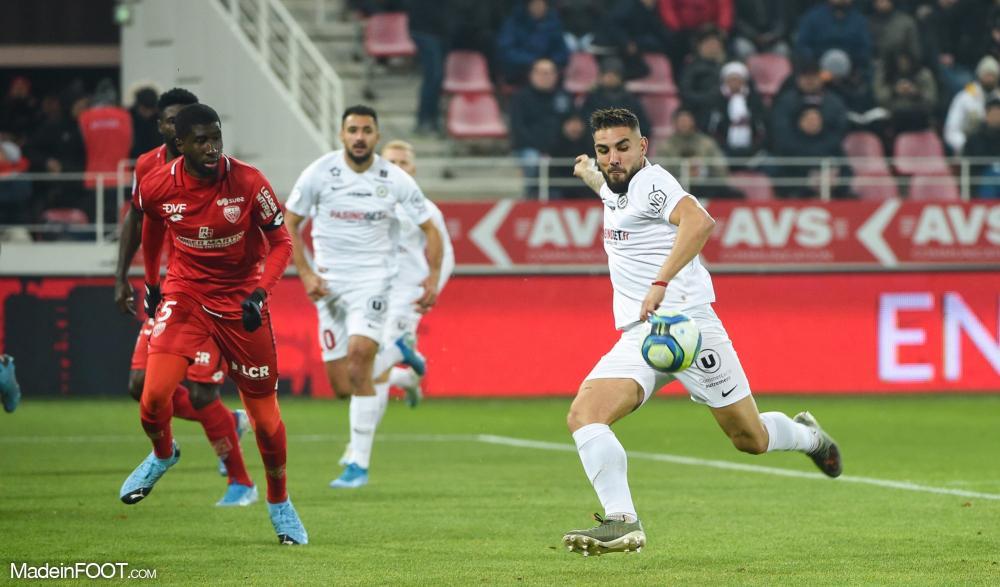 Match animé entre Dijon et Montpellier.