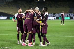 Les joueurs du PSG célébrant un but