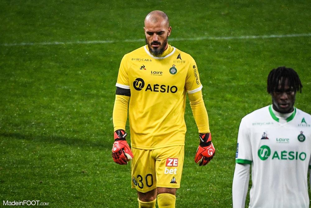 Jessy Moulin, le gardien de but de l'AS Saint-Etienne.