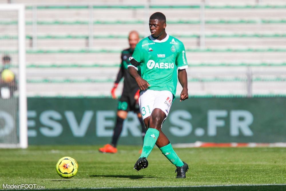 Saïdou Sow, le défenseur central de l'AS Saint-Etienne.