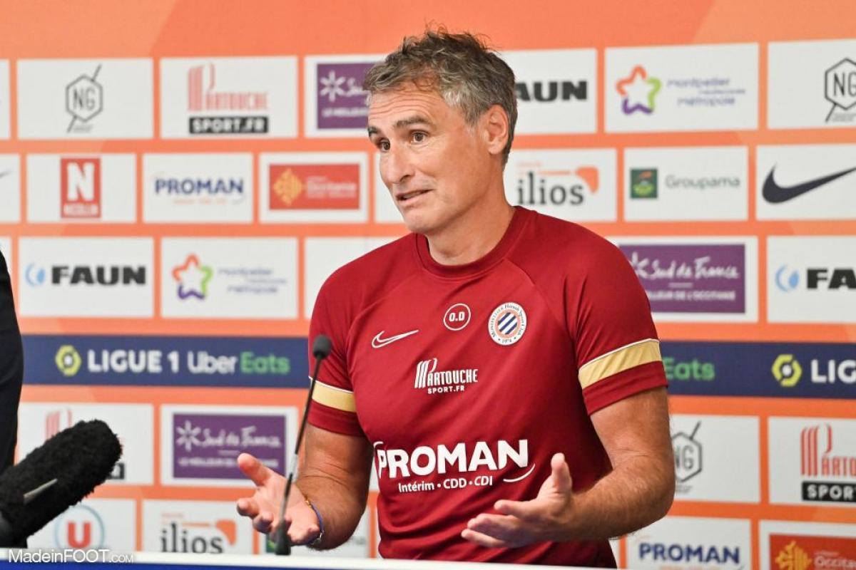 Olivier Dall'Oglio, l'entraîneur du MHSC