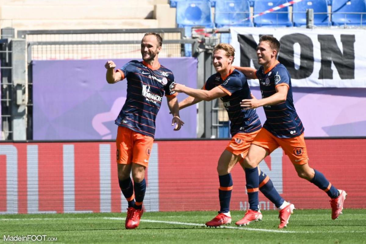 Valère Germain heureux après avoir ouvert le score face à Saint-Étienne